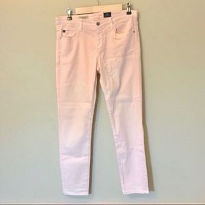 AG Adriano Goldschmied Pink Stevie Ankle Jeans